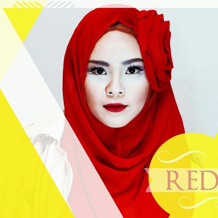 Red hijab fashion