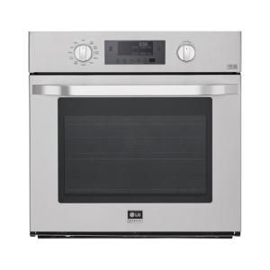 LG STUDIO 30 in. Single Electric Wall Oven Self-Cleaning with Convection and EasyClean in Stainless Steel-LSWS306ST - The Home Depot