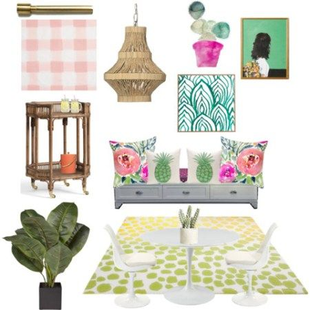 Breakfast Nook Mood Board For Client Created By Remixed Interiors Affordable E Design Services