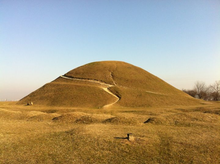 Krakus Mound (Polish: Kopiec Krakusa), also called the Krak Mound, is a tumulus located in the Podgórze district of Kraków, Poland; thought to be the resting place of Krakow's mythical founder, the legendary King Krakus.