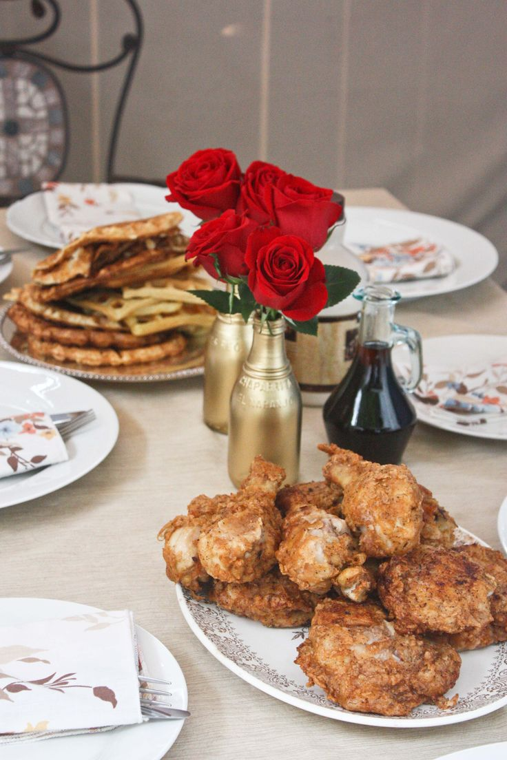 How To Throw A Chicken And Waffles Party Looks Like A Great Recipe How To  Eat How To Eat Fried Worms?