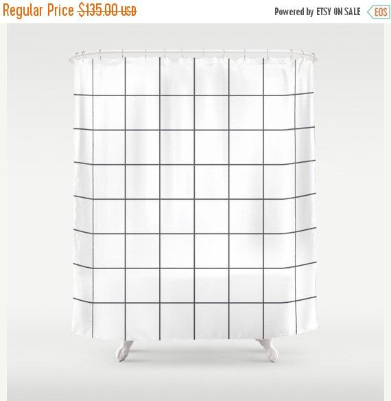 ON SALE 10% OFF Grid shower curtain, black and white curtain vintage, rustic shower curtain, bathroom decor, bathroom shower curtains by Famenxt on Etsy https://www.etsy.com/in-en/listing/463781240/on-sale-10-off-grid-shower-curtain-black