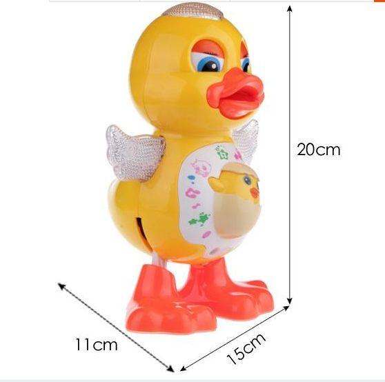 を最新電気ウォーキングはスイングダンス歌う黄色アヒルファンシーおむつ小さなおもちゃ