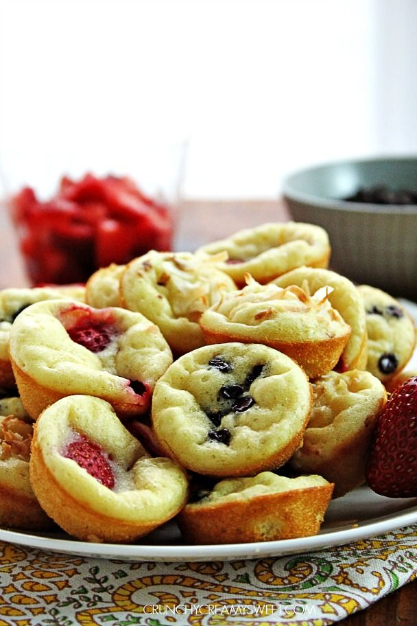 Bake your pancake batter in a muffin pan and make these fun mini pancakes muffins  Mini Pancake Muffins