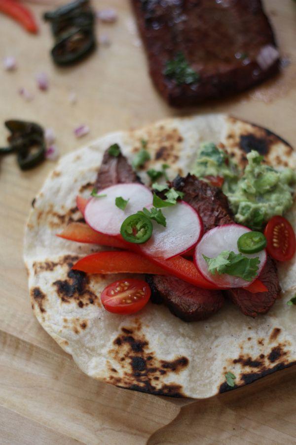 Flat Iron Steak Tortilla Wrap Good Eats Pinterest Labor Guacamole And Flats