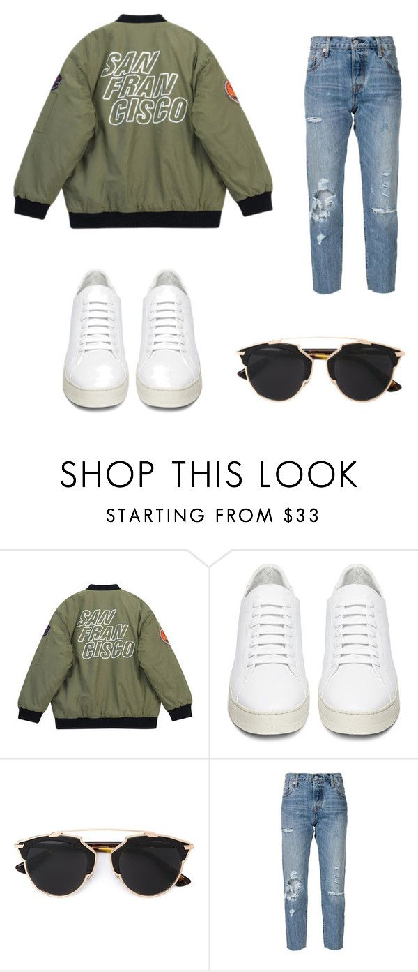"""Cashual modern look"" by shop-styleloft on Polyvore featuring Chicnova Fashion, Off-White, Christian Dior, Levi's and modern"