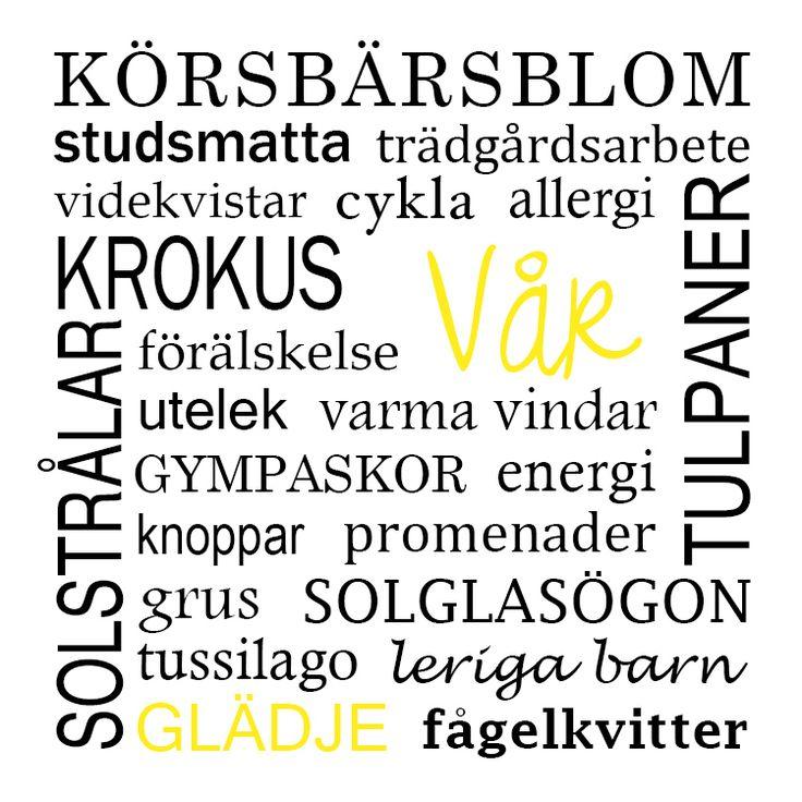 Vårtavla / Tavla Vår - made by Helle