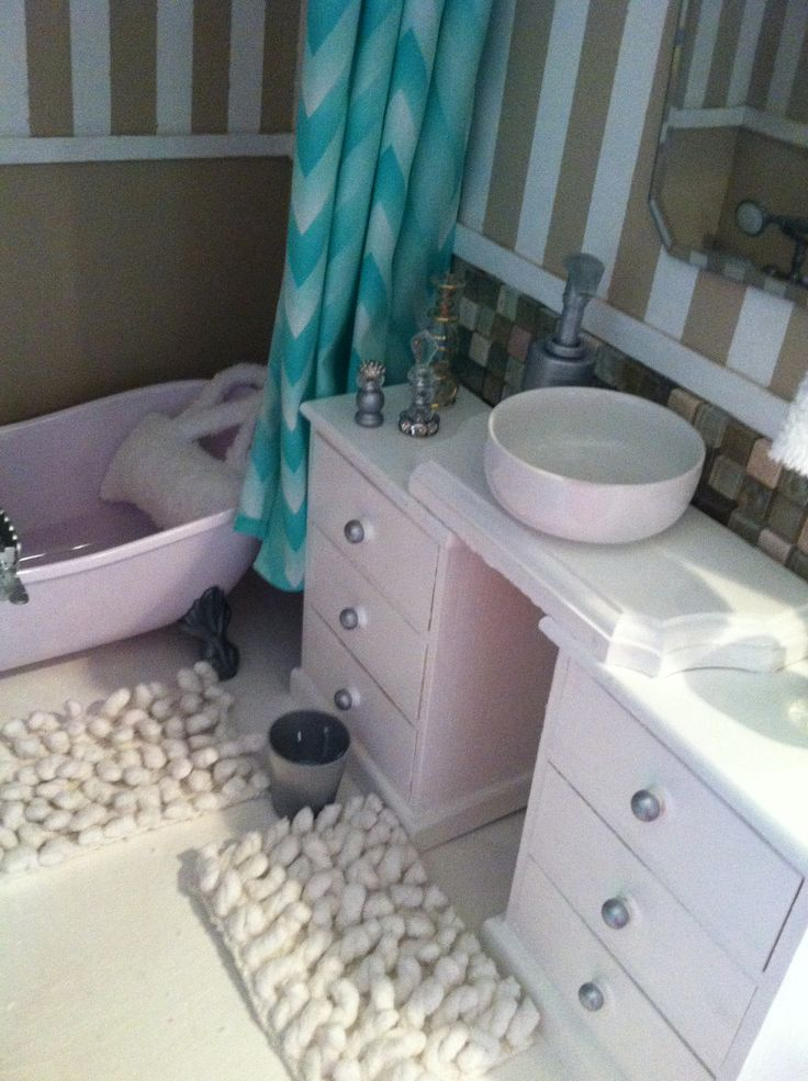 17 Best Images About American Girl Dollhouse Bathroom DIY