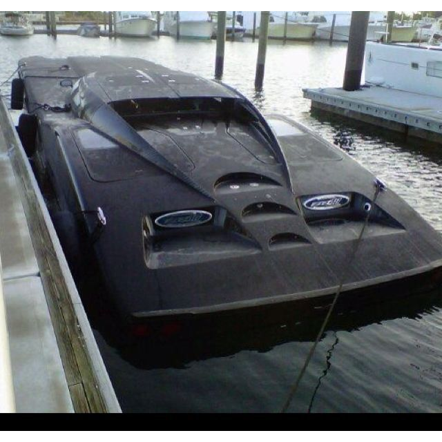 It looks like Batman needs to wash his boat.