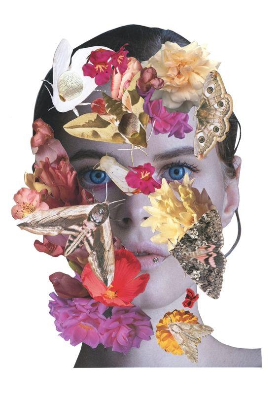 Designer - LARA QUINT Print artist - Ashkan Honarvar #laraquint #ashkanhonarvar #campaign #fw1516 #hannibal #flowers #print #collage #collaboration #ukrainianfashion