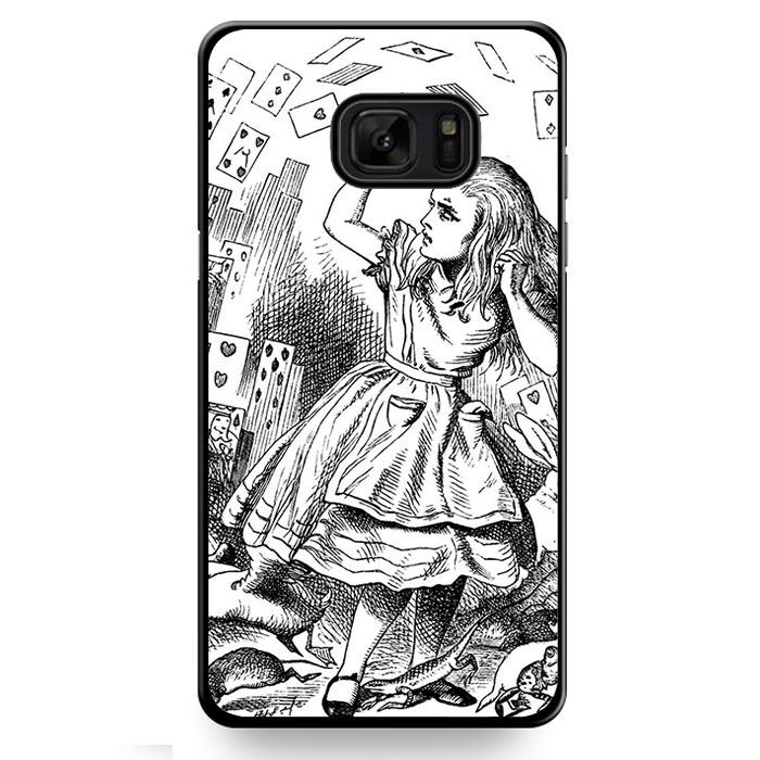 Alice's Adventures In Wonderland Drawings TATUM-551 Samsung Phonecase Cover For Samsung Galaxy Note 7