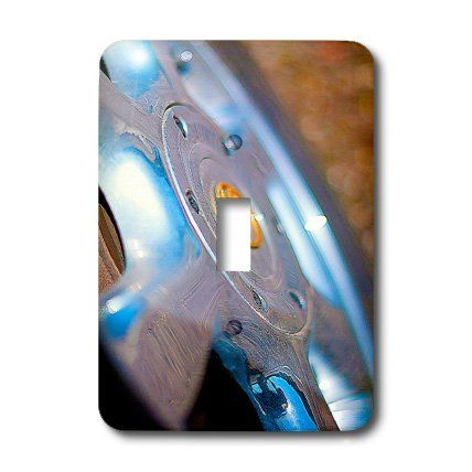 lsp_50443_1 Jos Fauxtographee Realistic - A Hub Cap on a Tire Taken Very Close Up and Given Vibrant Colors of Blue and Yellow - Light Switch Covers - single toggle switch 3dRose http://www.amazon.com/dp/B00853KOMS/ref=cm_sw_r_pi_dp_DG4wwb0JRXMED