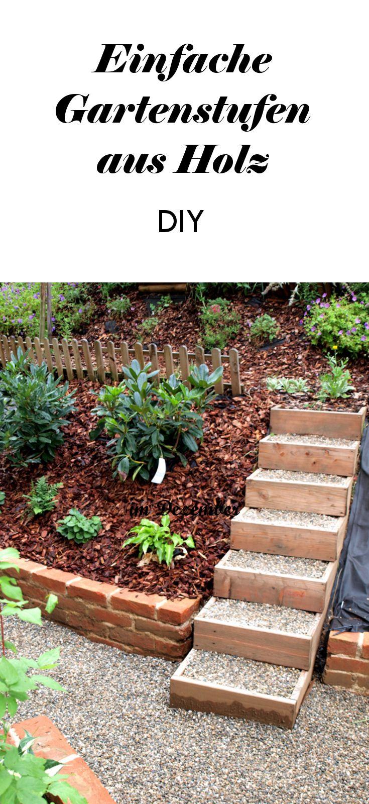 Diese Gartenstufen könnt ihr ganz einfach selber machen! #gartengestaltung #garten #stufen #diy