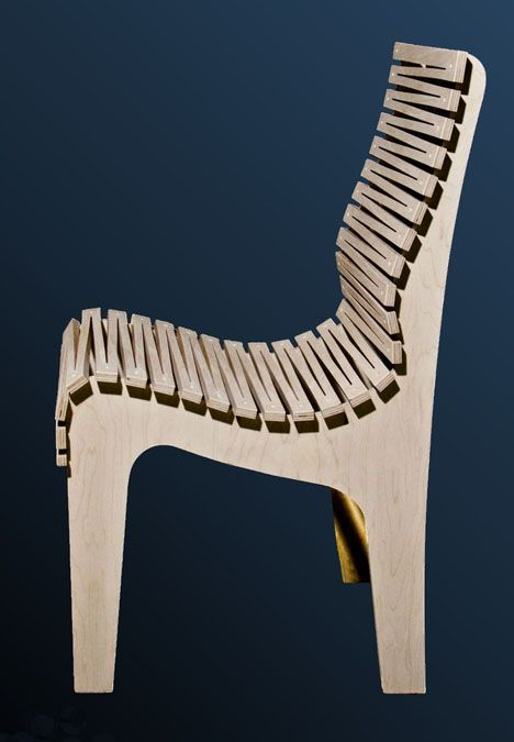 Randy Weersing's Zig Zag Chair: Three Pieces of Plywood and Many, Many Cuts.