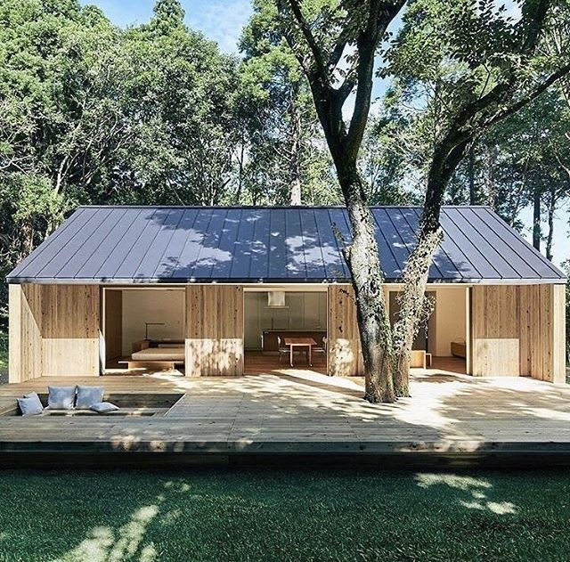 Habiter Dans Une Maison En Kit Muji Maison Prefabriquee Maison Prefabriquee Bois Maisons Prefabriquees Modernes