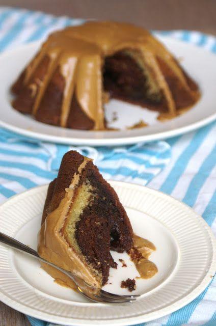 Mokka-choco-vanille Cake met Glazuur