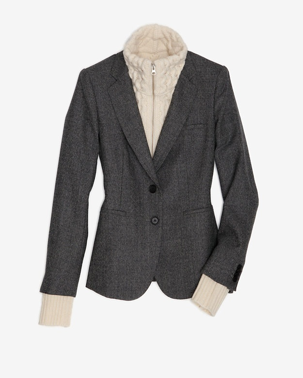 Veronica Beard Grey Tweed Blazer #INTERMIXONLINE