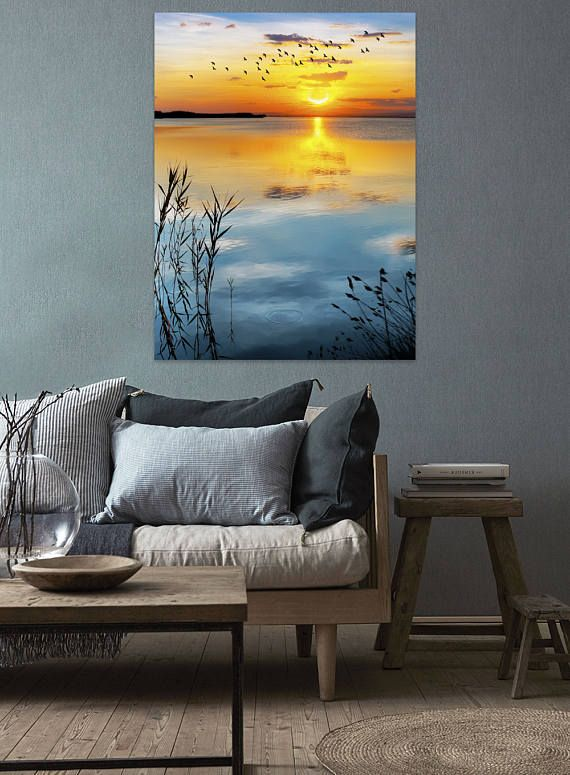 Cool landscape sunset poster for your home decoration wallhanging wallart print homedecor