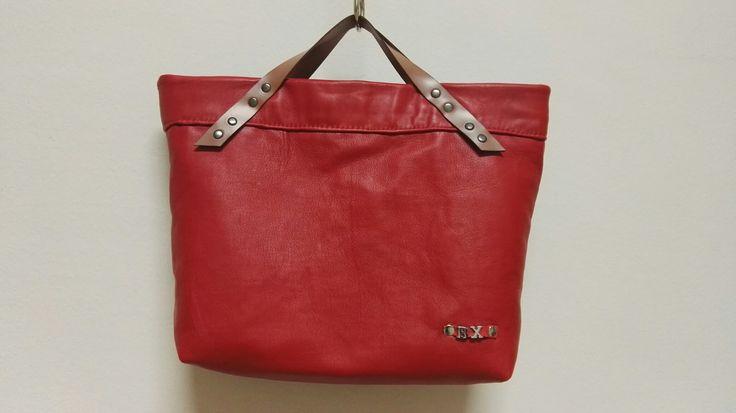 Bolso cuero rojo by xana