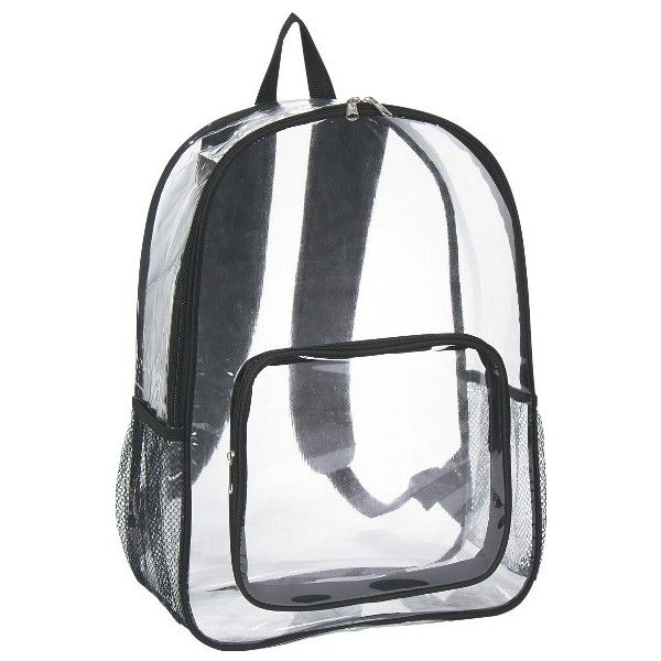 Promotional Clear Security Backpack Colors, Print Colors ❤ liked on Polyvore featuring bags, backpacks, logo bags, print backpacks, white backpack, white paper bags and rucksack bag