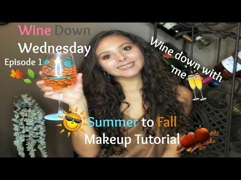 Summer to Fall Makeup Tutorial | Wine Down Wednesday Series | Jaclyn Hill x Morphe Palette Tutorial - YouTube