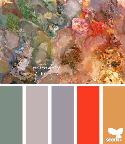 painterly huesColors Pallettes, Colors Pallets, Painters Hues, Design Seeds, Beautiful Colors, Painting Colors Combos Grey, Colors Palettes, Colors Schemes, Cool Painting Hues