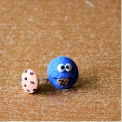 Kurabiye Canavarı - #tasarim #tarz #mavi #rengi #moda #hediye #ozel #nishmoda #blue #colored #design #designer #fashion #trend #gift