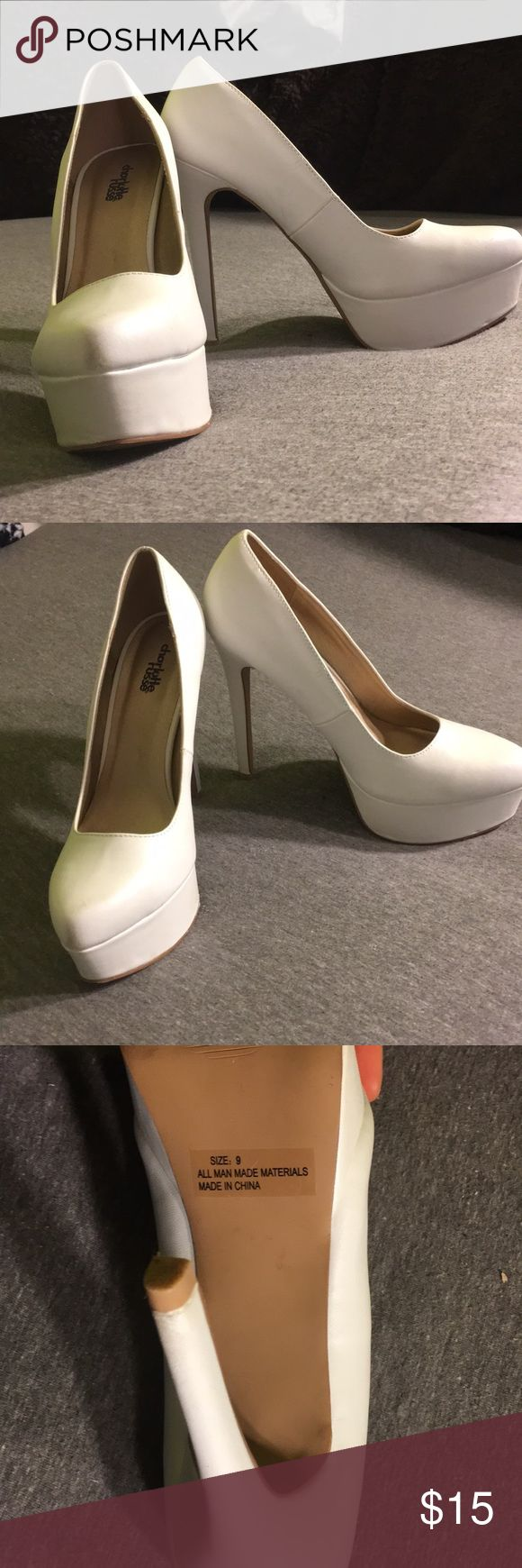 White heals Size 9, from Charlotte Russe. no flaws. Super cute 💕 Charlotte Russe Shoes Heels
