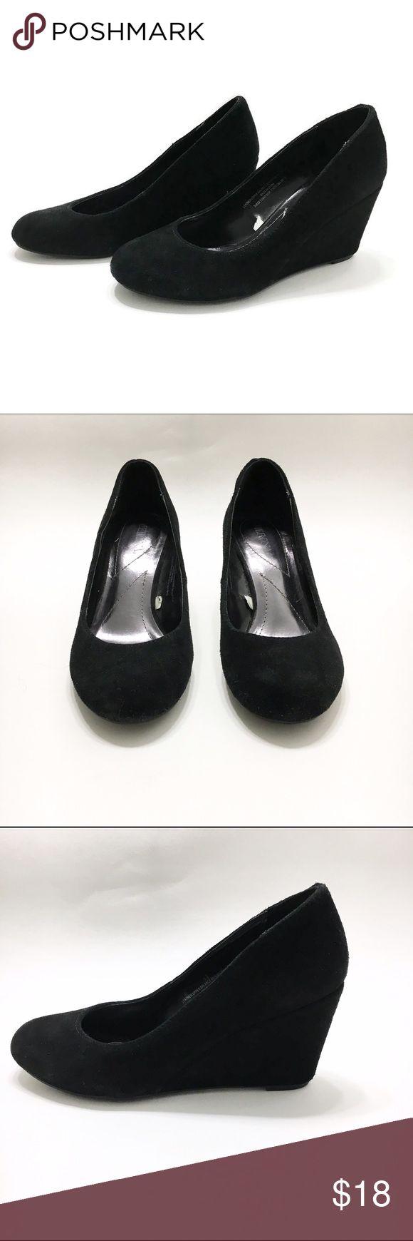 Merona Wedge Pumps Merona Ellen Wedge Pumps Solid black  Faux suede SIZE: Women's 5.5 Merona Shoes Wedges