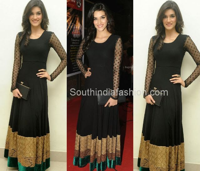 Kriti Sanon in Floor Length Anarkali Celebrity Sarees, Designer Sarees, Bridal Sarees, Latest Blouse Designs 2014 South India Fashion