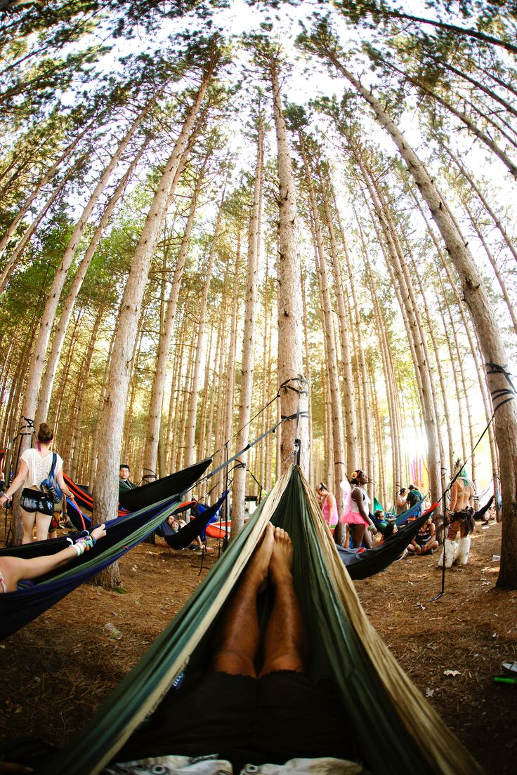 a group all camping in enos