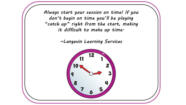 Always start #training sessions on time!