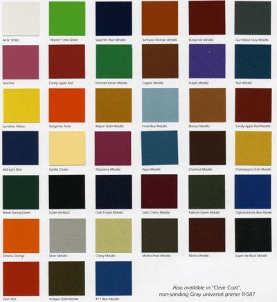 Starfire Automotive Finishes Color Chip Chart Paint Color Chart Asian Paints Colour Shades Asian Paints Colours