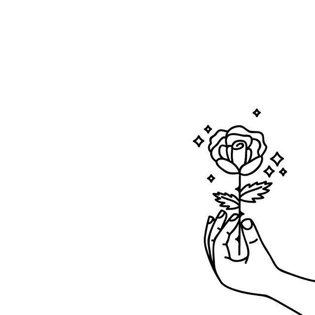 UNA ROSA  #proyecto89 #digital #digitalillustration #illustration #illustrator #draw #drawing #dailydrawing #rose #hands #takeit #sparkle #cool #tattoo #tattosketch #tattooart #flashtattoo #flash #ink  #outlines #simple #rad #radness #art #mywork #digitalart #thorns