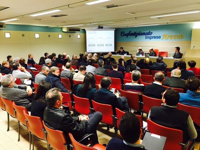 """18/2/2016. Aperitivo in Confartigianato """"La ricerca di clienti e reti commerciali all'estero"""""""