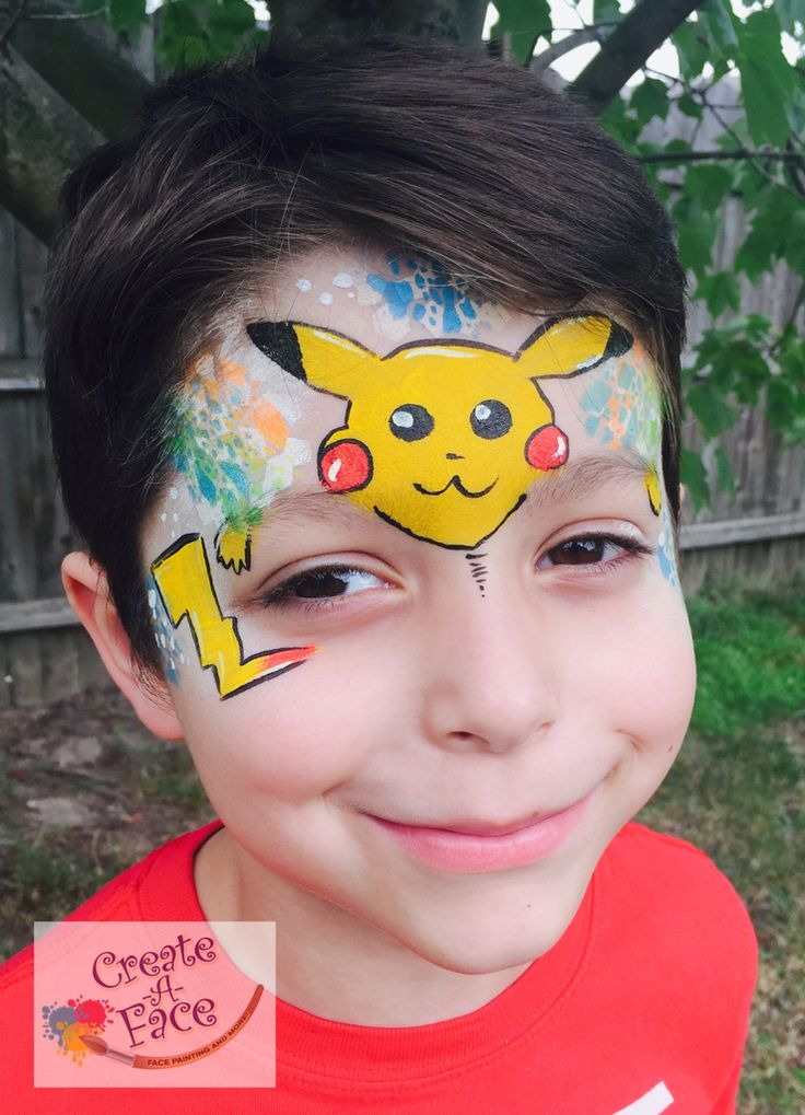 Pokemon Face Painting