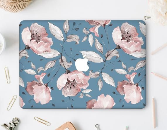Floral Macbook Air 13 Pastel Cases Macbook Pro Retina Case Blue Macbook 12 Inches Cover Macbook Air 11 Inch Clear Case for Mac Shell WA2081