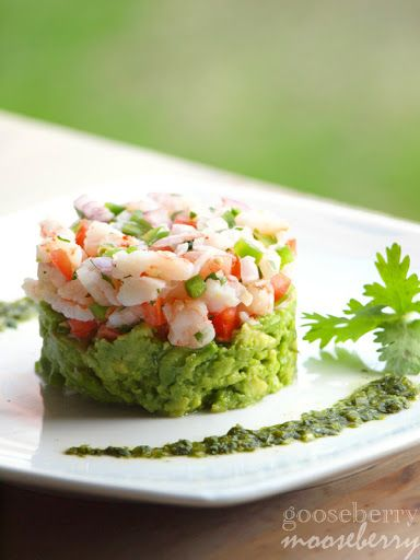 Mexican Ceviche With Shrimp With Medium Shrimp, Lime Juice, Plum Tomatoes, Jalapeno Chilies, Shallots, Chopped Fresh Cilantro, Avocado, Salt, Scallions, Fresh Cilantro, Lime Juice, Cumin, Garlic Powder, Salt, Pepper