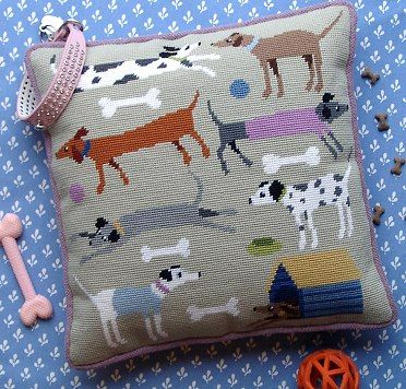 'Doggies' Tapestry Kit - not embroidery but love the idea.