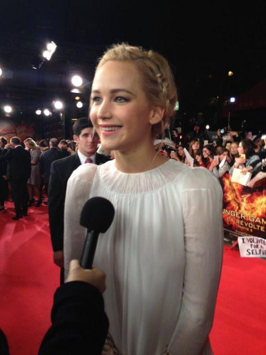 Jennifer Lawrence at the 'Mockingjay: Part 2' Paris Premiere today