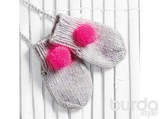 Детские варежки - схема вязания спицами. Вяжем Варежки на Verena.ru