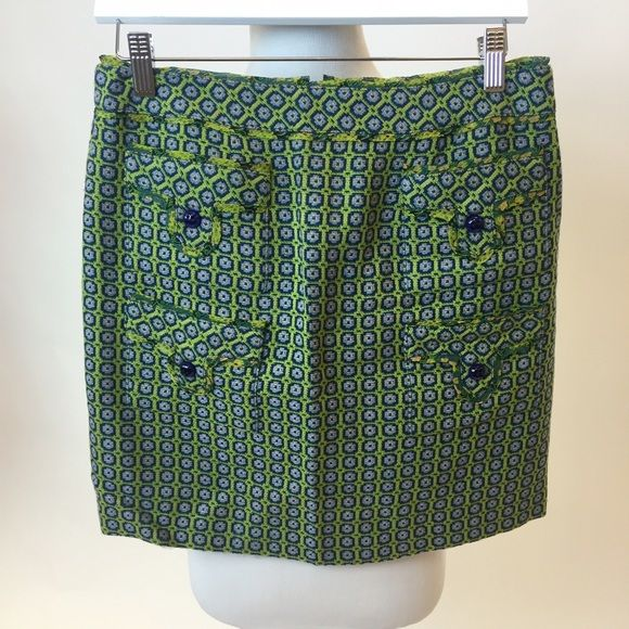 Anna Sui Embroidered Mini Skirt Super cute mini by Anna Sui with 4 pockets on the front. Perfect for fall with leggings (or not!) Anna Sui Skirts Mini