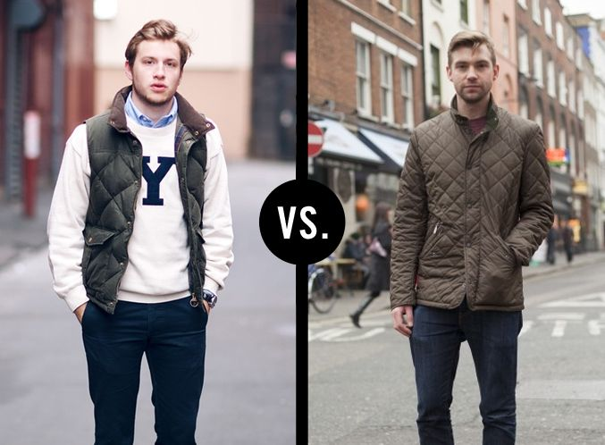 Quilted vest vs. Quilted jacket