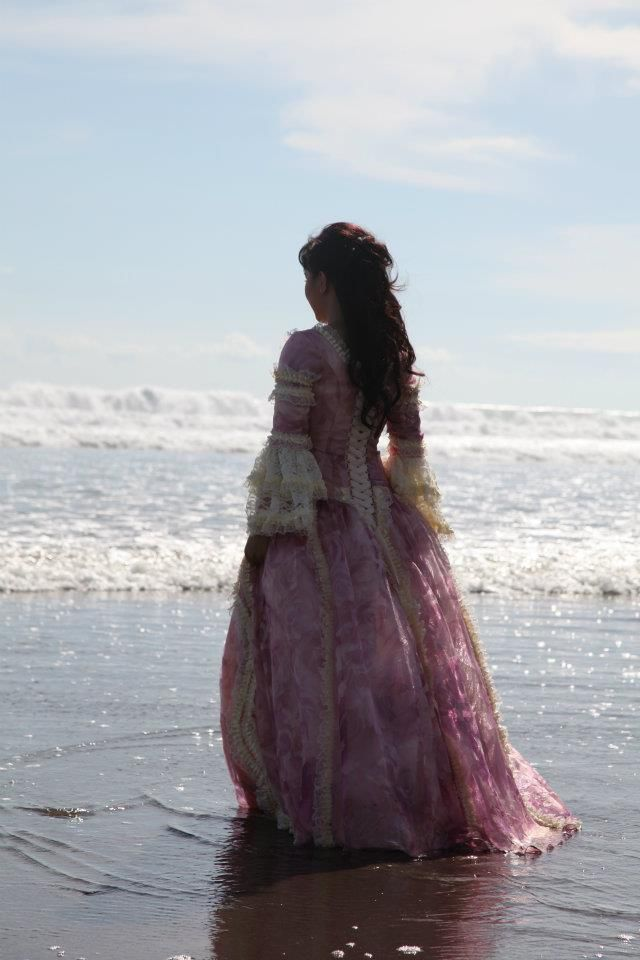 Every day she would walk the beach, scanning the horizon in hope that a ship would be there to take her away.