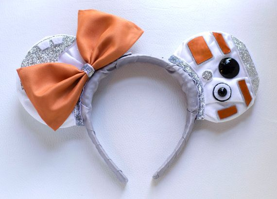 Star War's BB-8 Inspired Mickey Mouse Headband by InCindysCloset