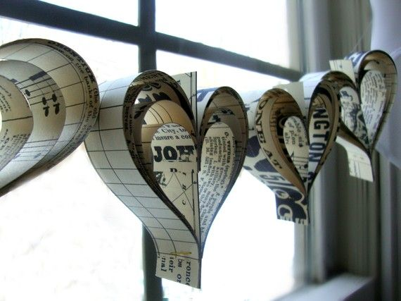 heart garlands - mixed sources