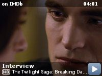 The Twilight Saga: Breaking Dawn - Part 2 -- IMDb's Keith Simanton interviews Robert Pattinson about the close of the Twilight series, his favorite Edward moment in the films, his first movie in a movie theater and a movie quote that he loves.