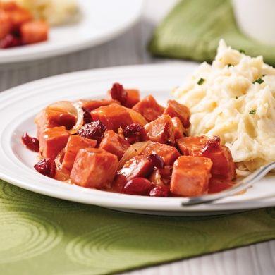 Mijoté de jambon aux canneberges - Soupers de semaine - Recettes 5-15 - Recettes express 5/15 - Pratico Pratique