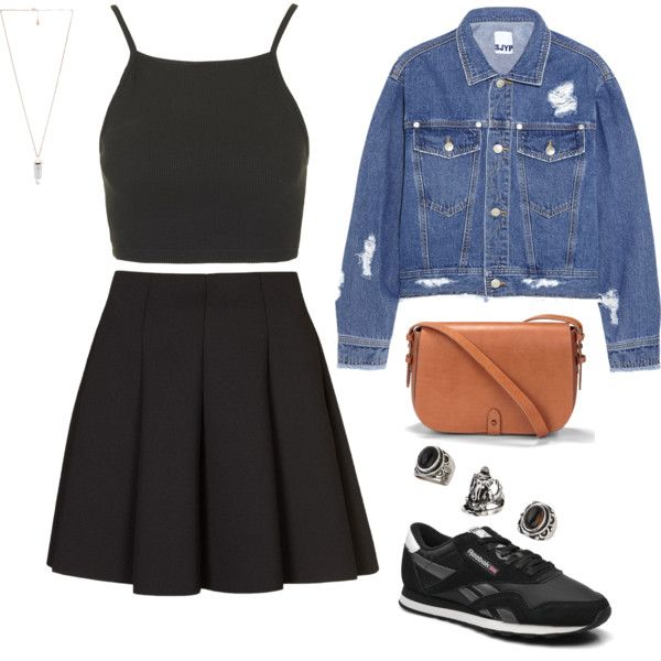 by agneslilian on polyvore featuring topshop, steve j & yoni p, levi's, amber sceats and reebok