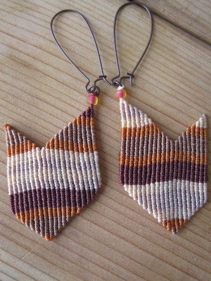 Micro Macrame earrings